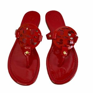 Tory Burch Redstone Patent Leather Miller Sandal